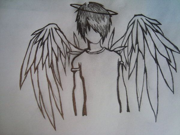 Emo pictures to draw yokwallpapers how to draw fallen angels emo angel by sandra loves drawing thecheapjerseys Image collections
