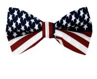 American Flag Men's Bow Tie USA Patriotic BOWTIE at Amazon ...