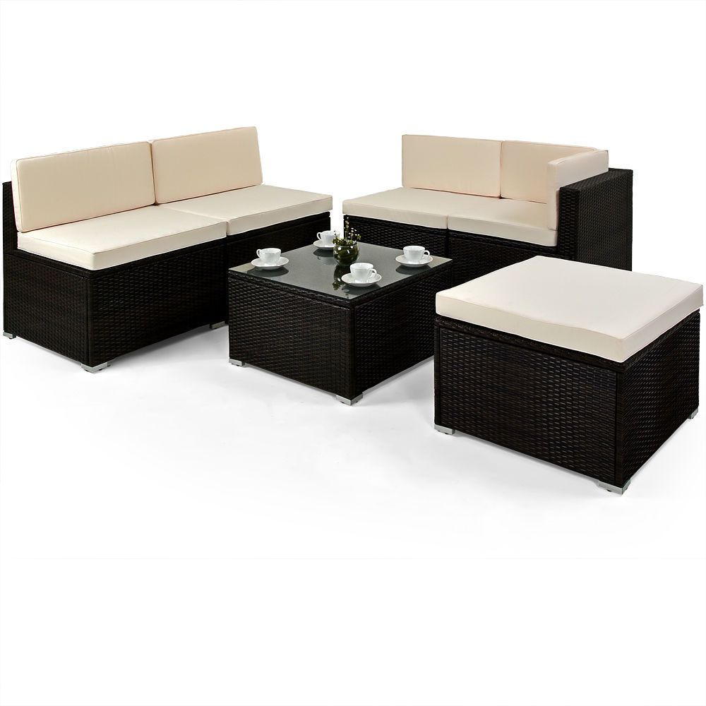 Garden Furniture Corner Sofa Ebay Rattan Garden Furniture Set Corner Sofa Table Outdoor Patio