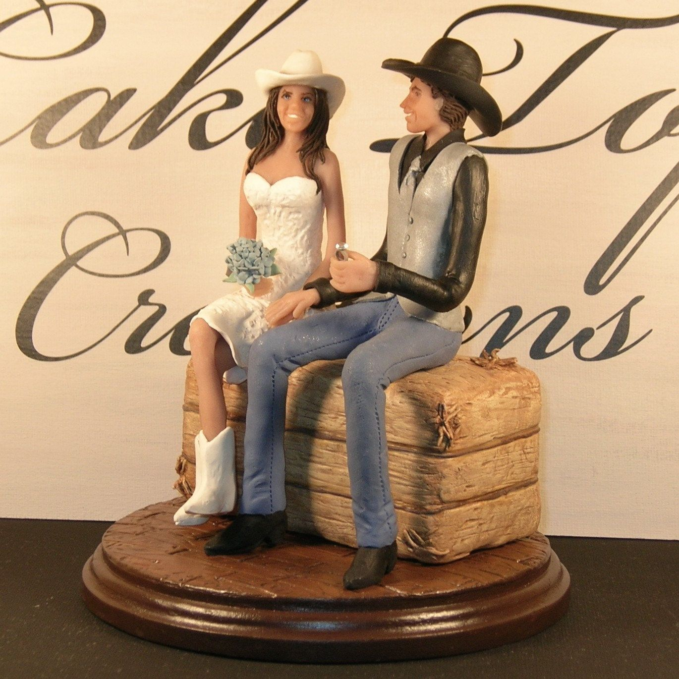 western wedding ideas western wedding cake toppers bride and groom Country Western Wedding Cake Topper Couple