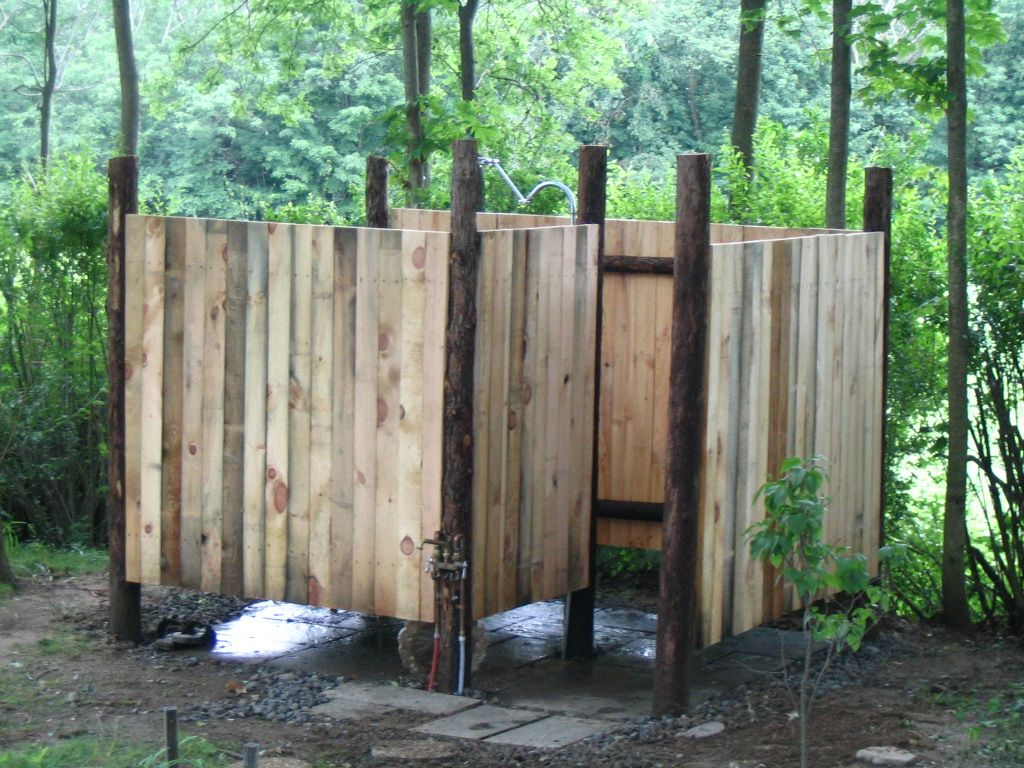 Make An Outdoor Shower Fresh Outdoor Shower With Natural Cedar Posts Locally Sewn