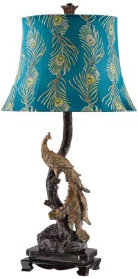 Exotic Plumage Peacock Table Lamp