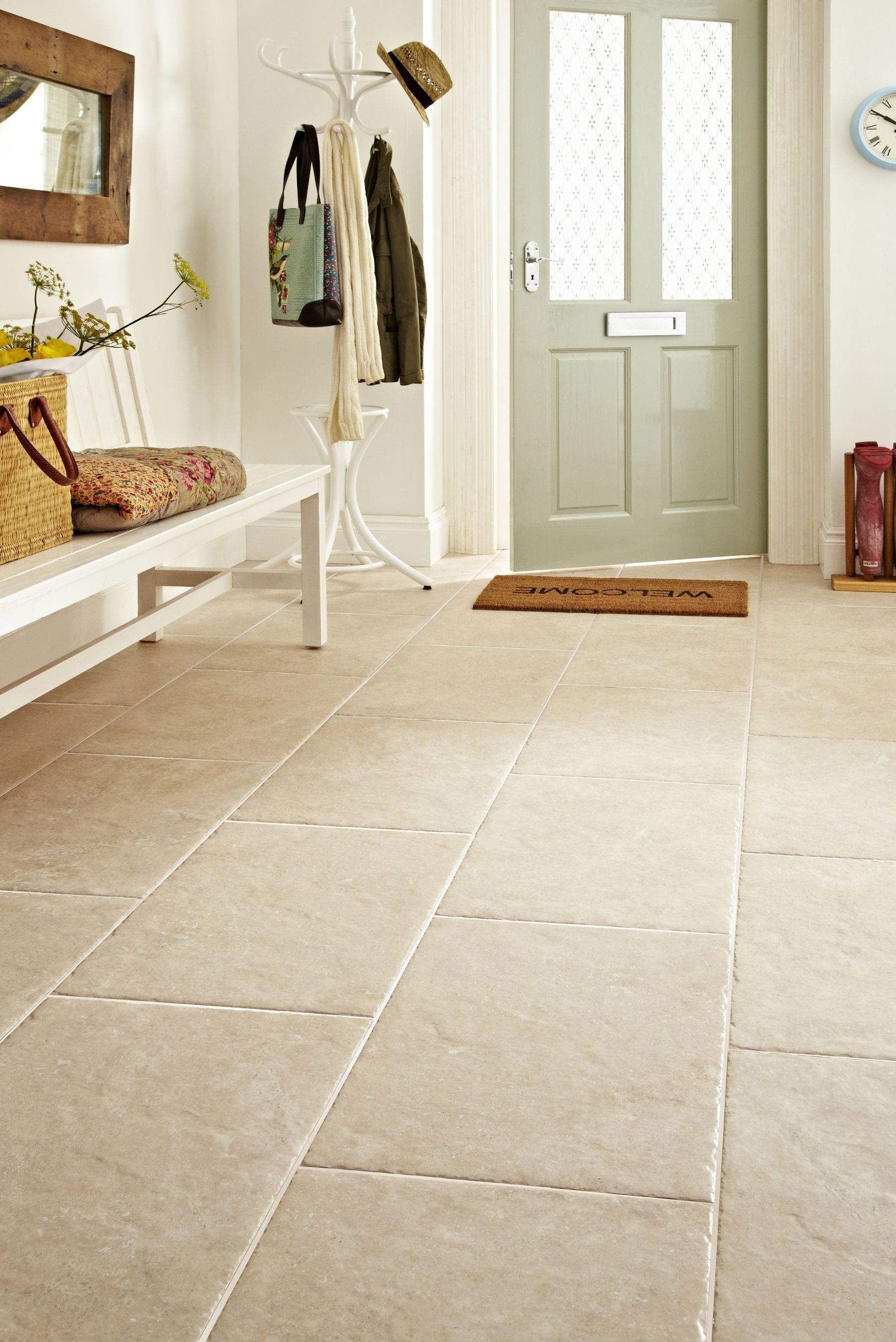 kitchen floor tiles Kitchen floor tiles at Topps Tiles Available in a range of colours materials and patterns Express 24 hour home delivery available free on all samples