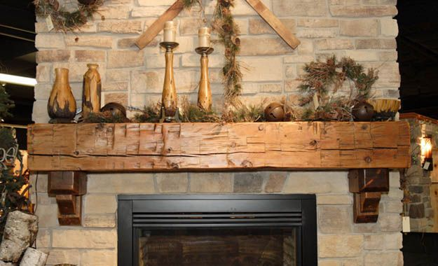 Whitewash Natural Stone Fireplace Small House Interior