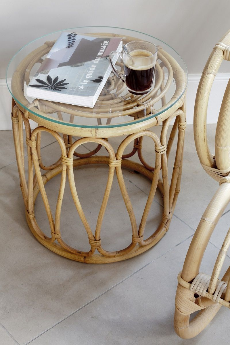 Tables De Salon En Rotin Table Basse En Rotin Vintage Kok Maison Where The Heart Is