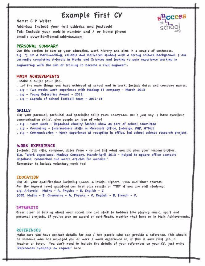 My first CV template kids stuff Pinterest Cv template - cv template