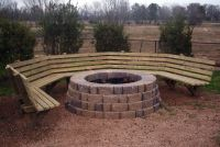 firepit bench - Google Search | Outdoor Living | Pinterest ...