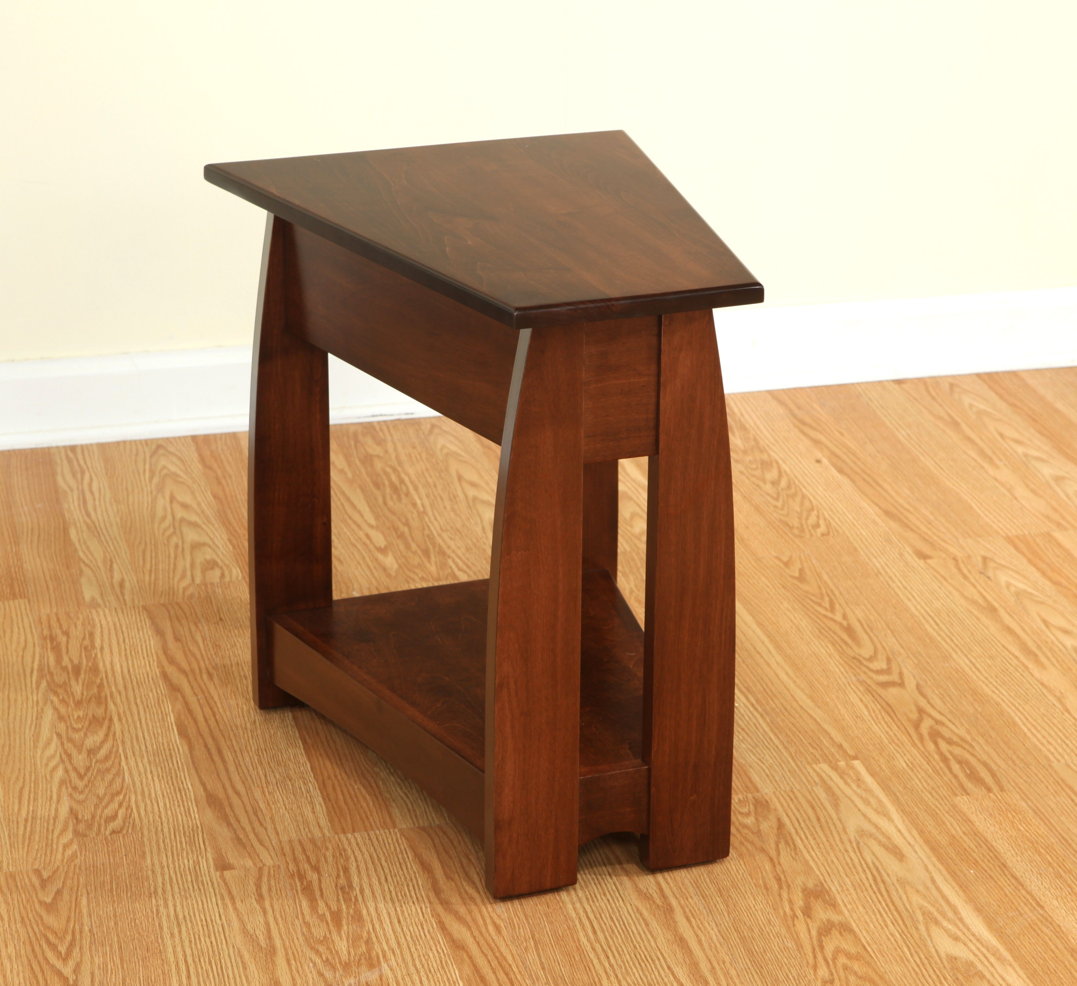 Quirky Tables Furniture Quirky Small Narrow End Table In Wedge Shape