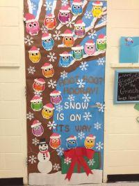 Owl Christmas Holiday Classroom Door | My Classroom ...