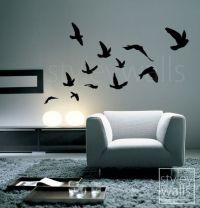 Flying Birds Wall Decal, Birds Wall Sticker Flying Birds