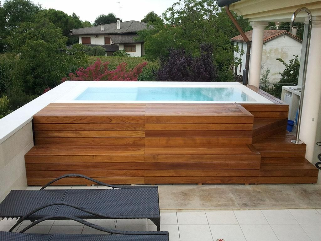 Jacuzzi Pool Aussen Contemporary Jacuzzi Hot Tub Design With Wooden Cover As