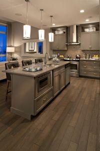 Gray, modern kitchen, flooring   Cardel Kitchens ...