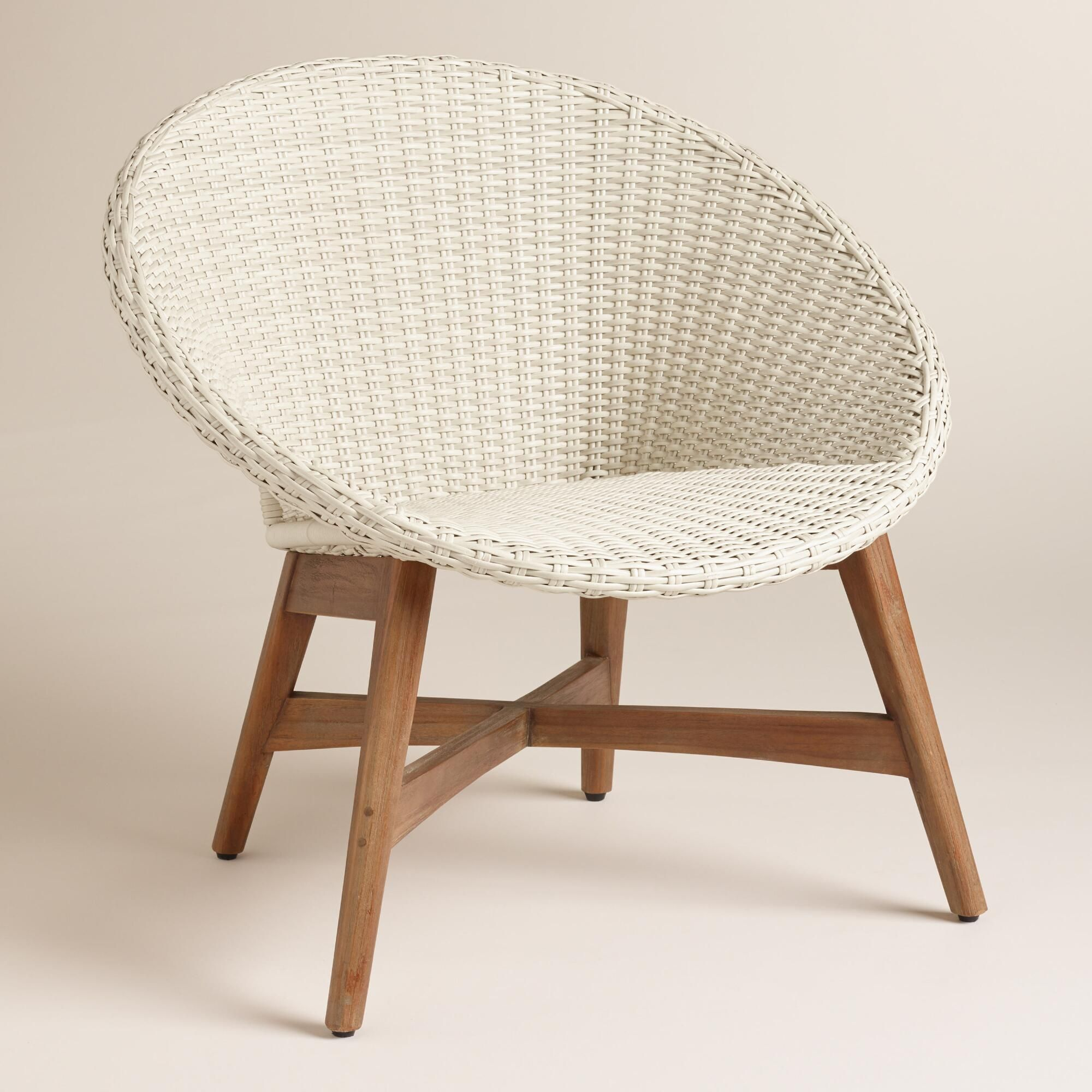 Round Outdoor Chair Round All Weather Wicker Vernazza Chairs Set Of 2 By