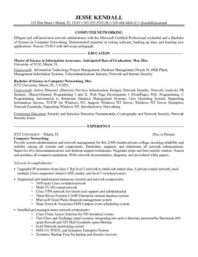 Example Resume Basic Computer Skills It can describe about our - networking skills resume