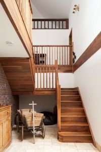 Open timber stairs | gallery landing | double height space ...