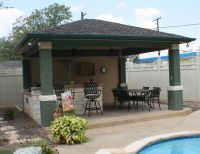 Ideas Outdoor Kitchen In Contemporary Covered Patio Also ...