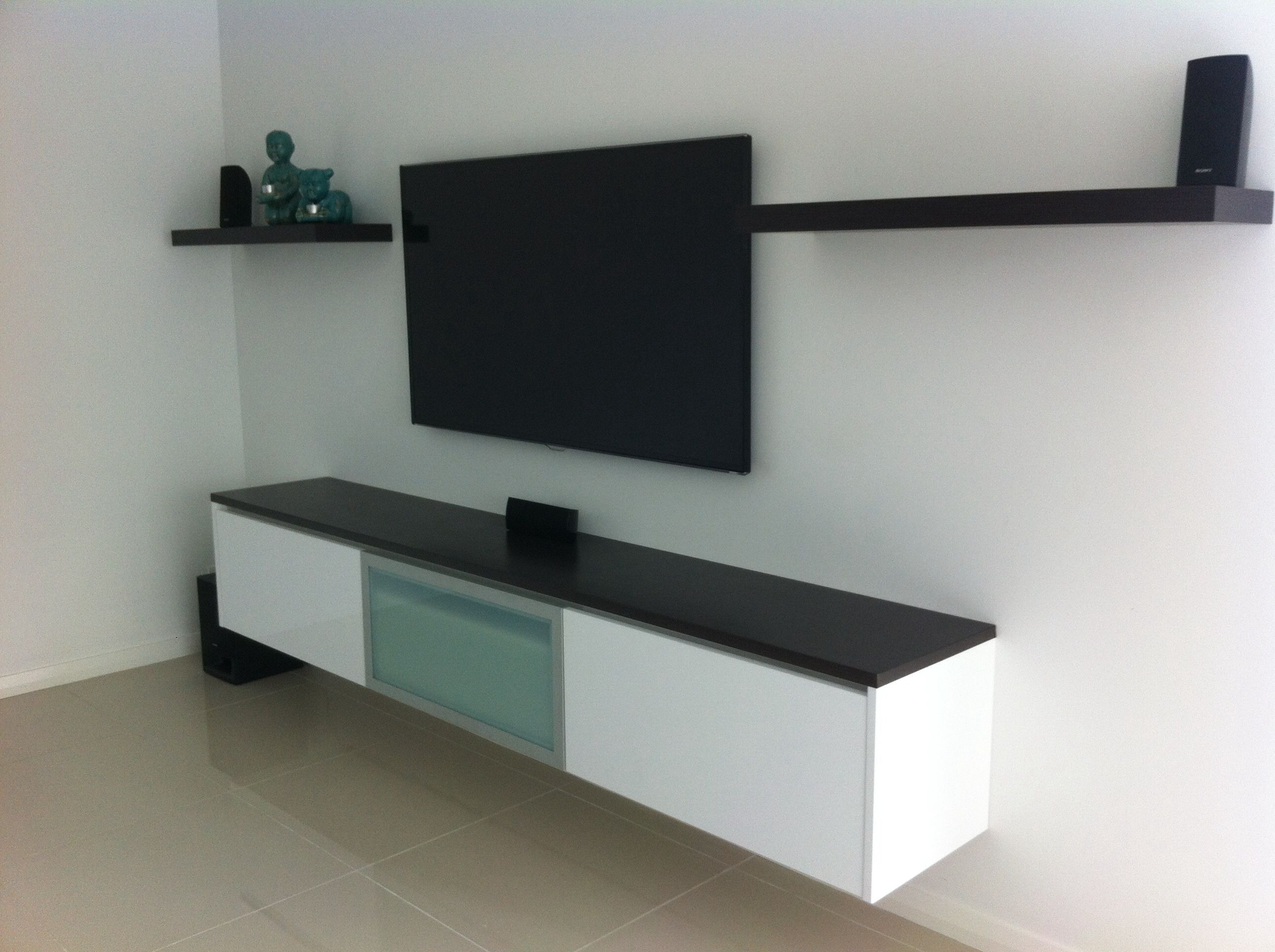 Floating Tv Cabinet Floating Wall Cabinet Media Theatre Pinterest