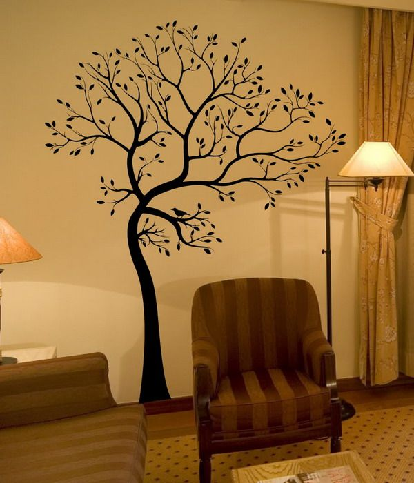 Decorating Tree Wall Murals Home Interior Design Ideas Painting - interior design on wall at home