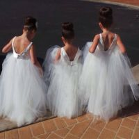 New Arrival 2017 Hand Made White Tulle Tutu Pretty Flower ...
