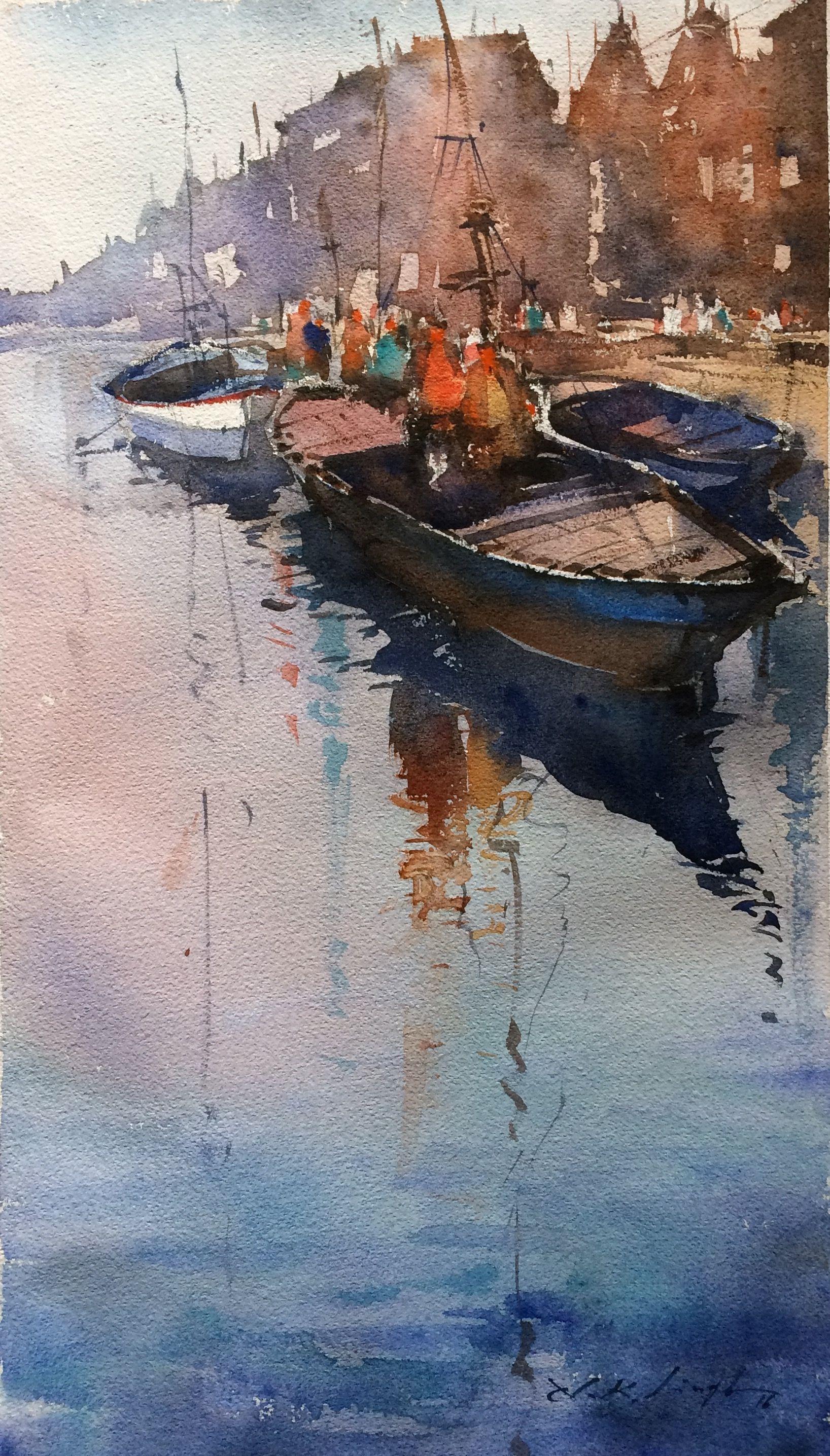 online art gallery of water paint art original art for sale nitin singh