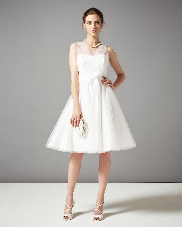 short tulle wedding dress Wedding Dresses Cream Sally Tulle Wedding Dress Phase Eight