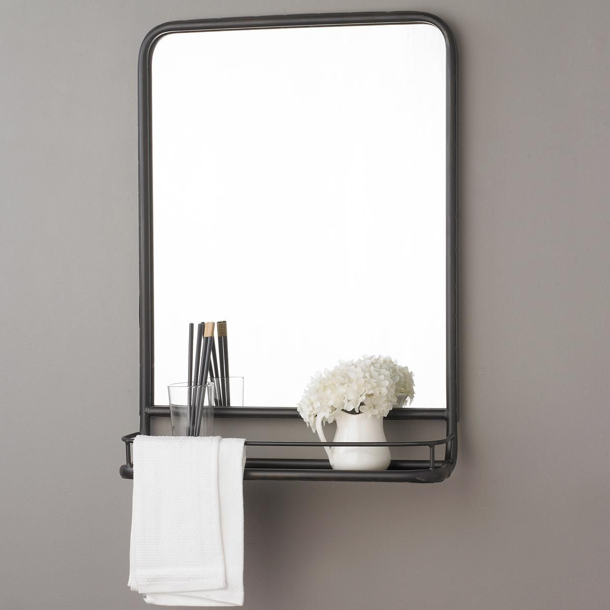 Metal Wall Mirror With Shelf Metal Mirror With Shelf Small Metal Mirror Shelves