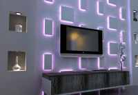 3d wall panel led - Google Search | My new attic ...