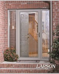 Adding a LARSON storm door with decorative glass detailing ...