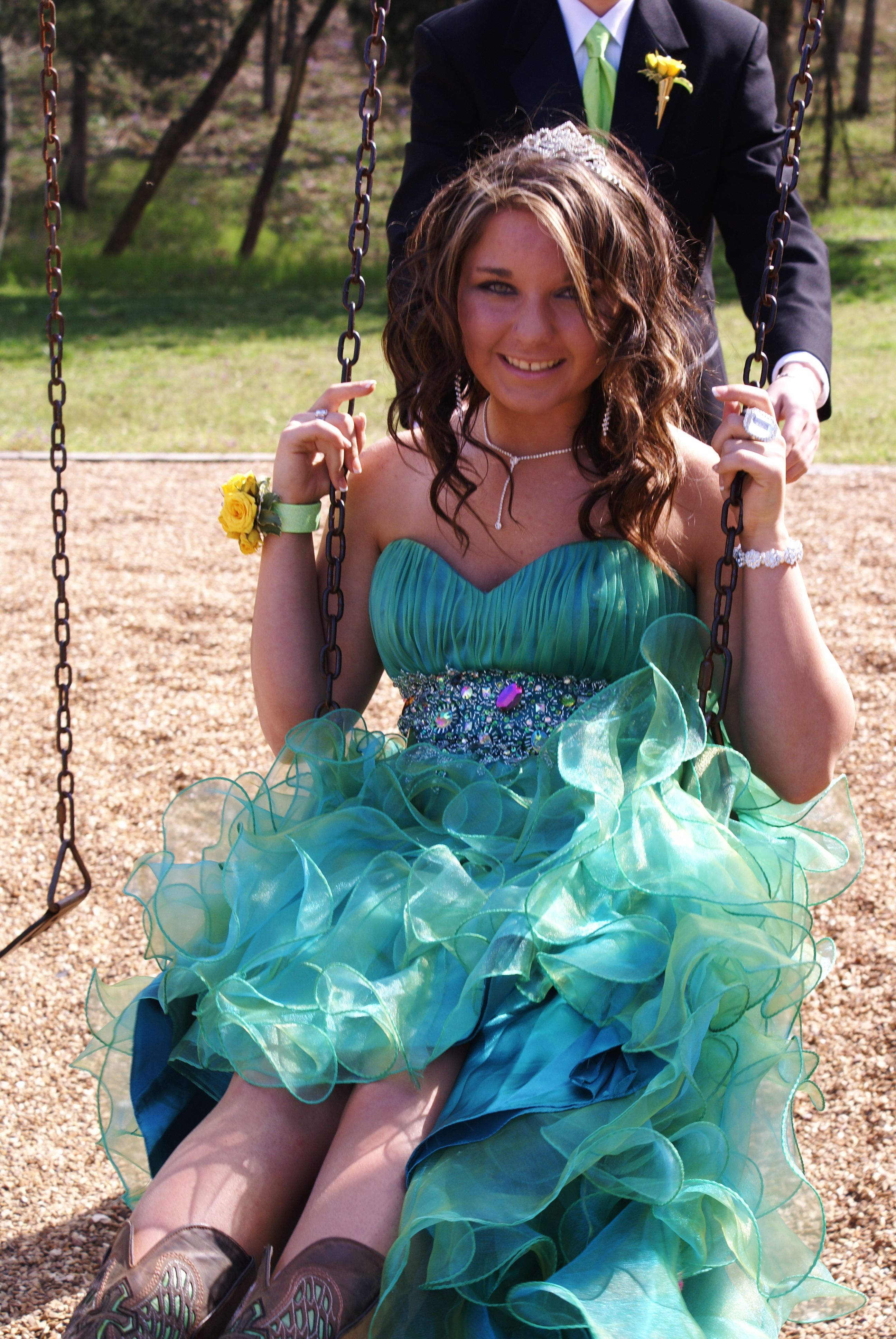 Definitely Rocked My Cowgirl Boots With My Prom Dress