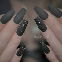 Grey matte with black and silver | Nails | Pinterest ...
