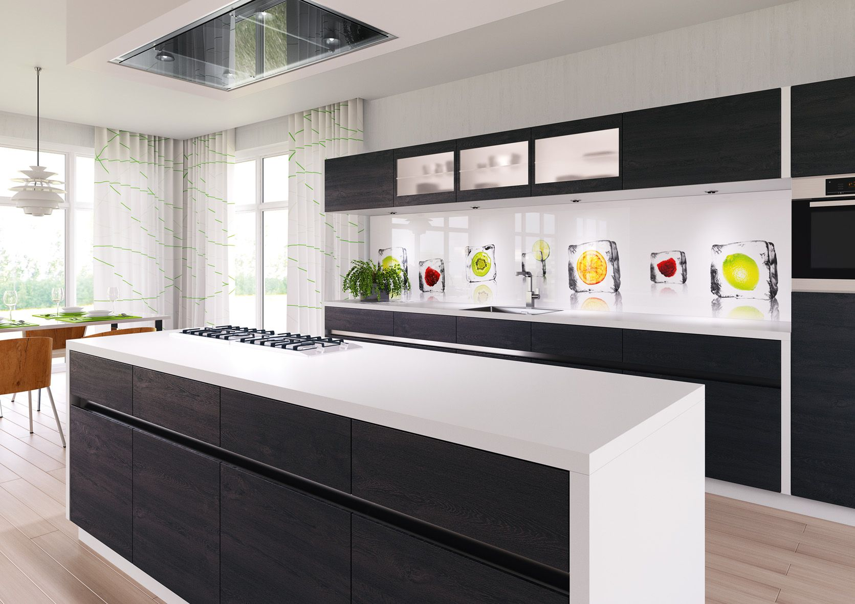 Spritzschutz Küche Glas Kiwi Lechner 39s Quoticecubes Quot Glass Backsplash Splish Back