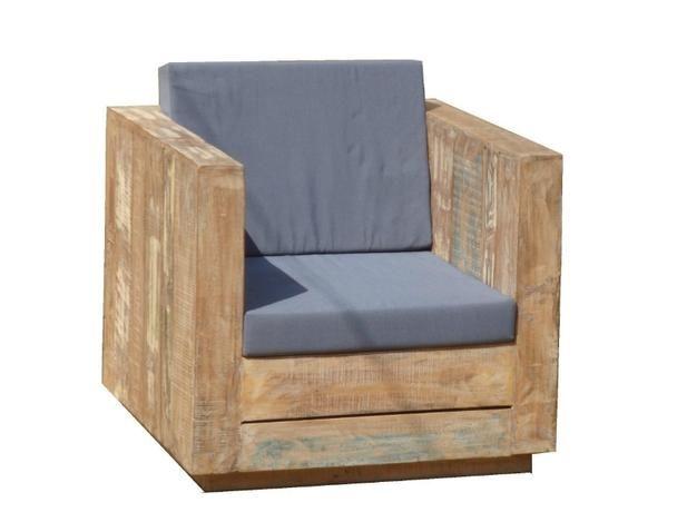 Lounge Sessel für den Garten aus altem Holz - Garten Möbel - lounge sessel designs holz ausenbereich