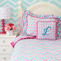 teen bedding chevron | Pink & Turquoise Girls Chevron ...