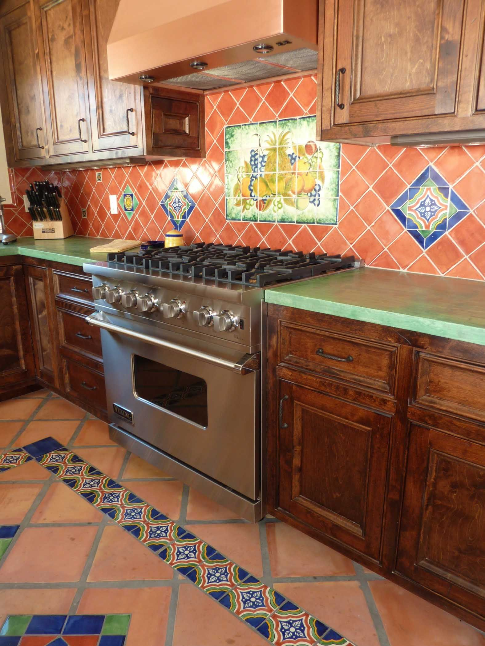 Spanish Tile Countertops Kitchen Remodel Using Mexican Tiles By Kristiblackdesigns