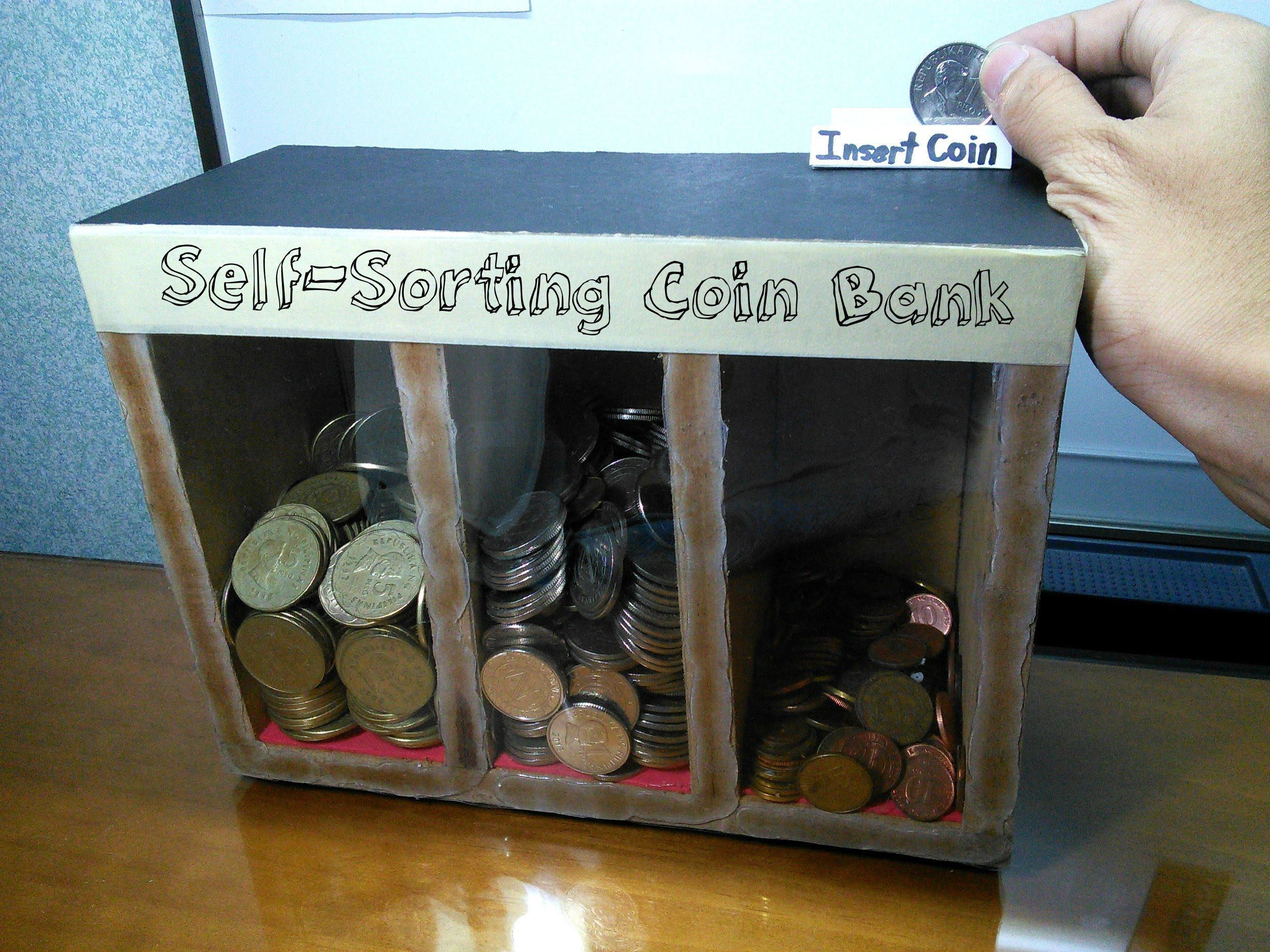 Piggy Bank Idea Diy Self Sorting Coin Bank Diy Pinterest Wood Toys