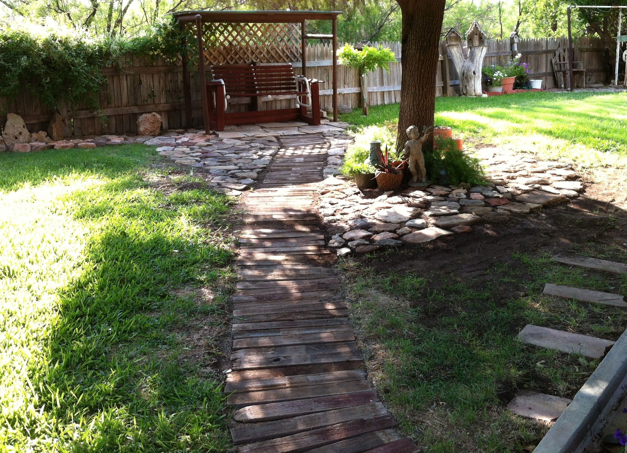 This is my wooden walkway in my backyard
