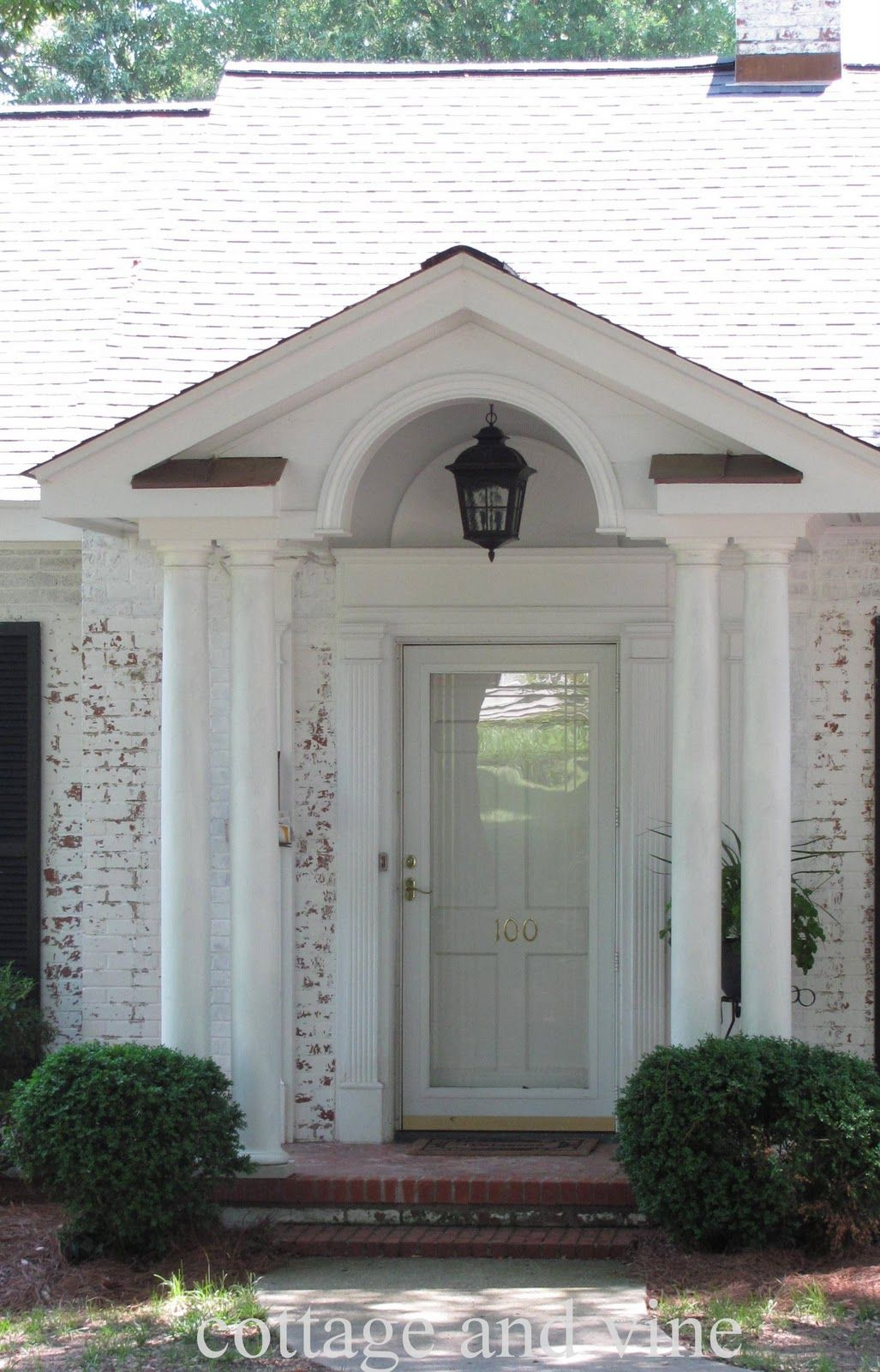 Interior, : Fetching Front Porch Portico Design Ideas With