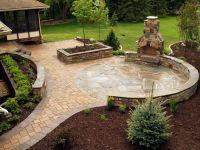 Stone fireplace and NY Bluestone flagstone & paver patio ...