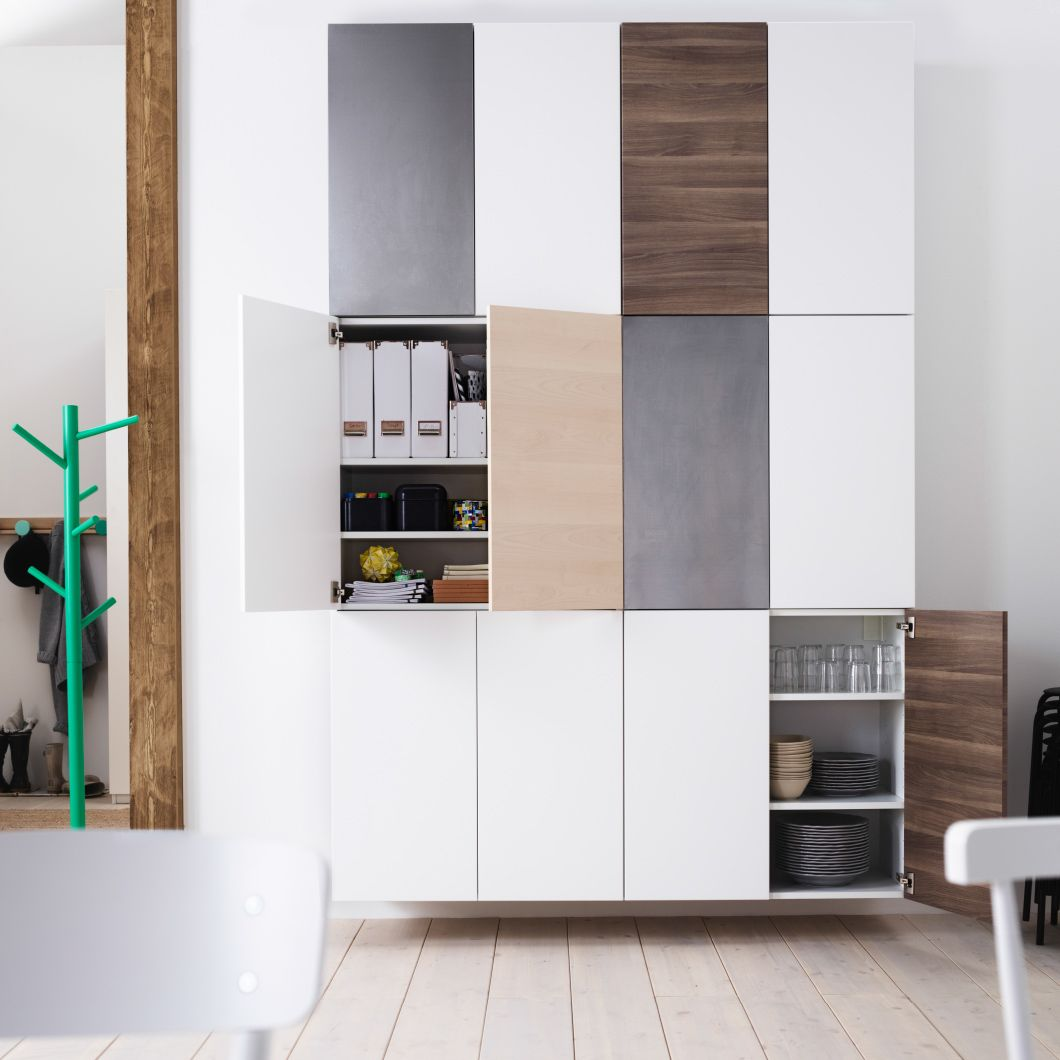 Ikea Faktum Metod Kombinieren Wall Of Double Door Ikea Kitchen Cabinets Stacked Two