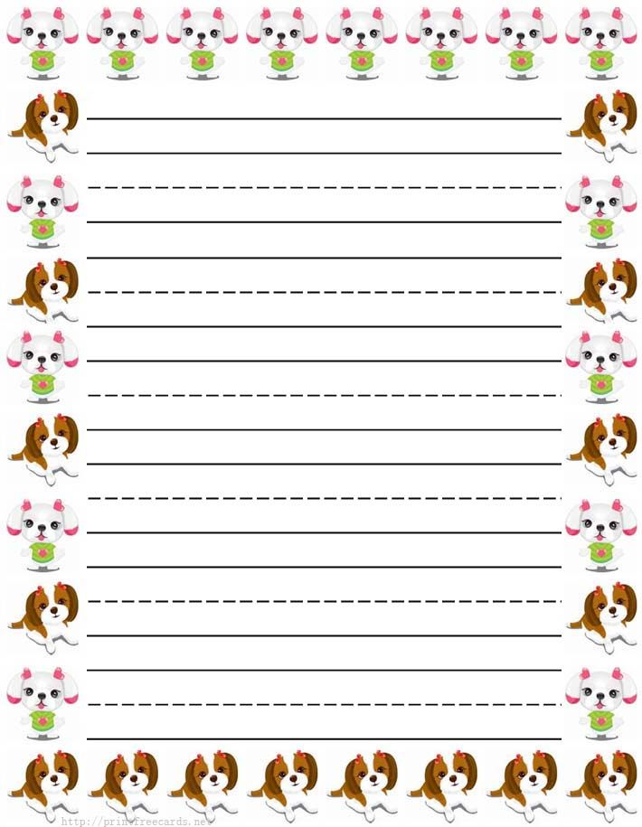 girl butterflies Free printable kids stationery, free printable - lined border paper