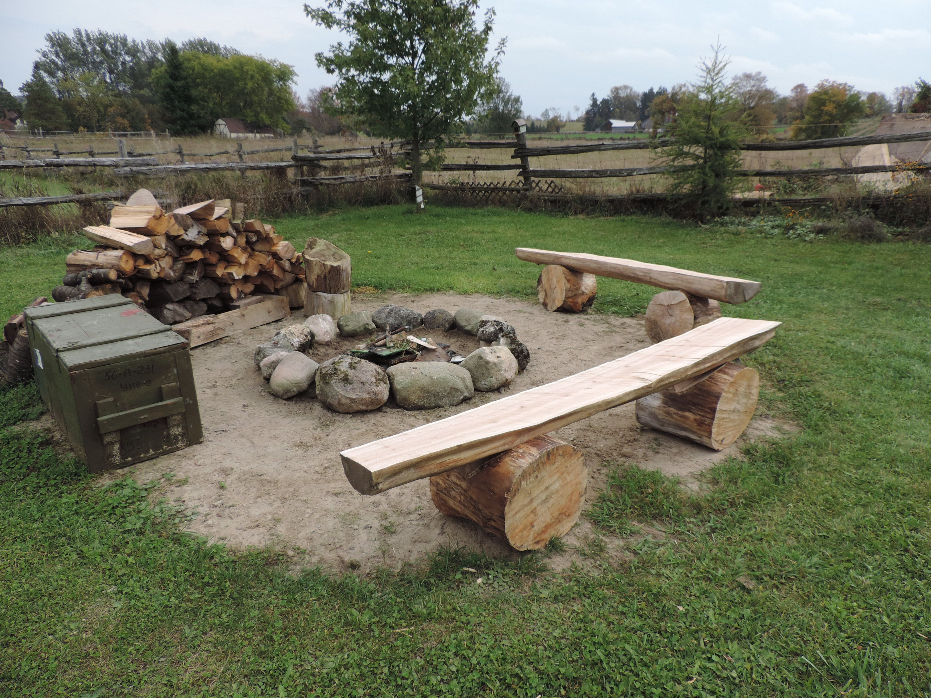 Fire Pit Big W Our Home Made Fire Pit Benches From Cedar Ripped With A