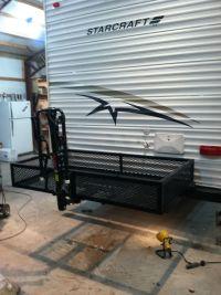 Our DIY camper bumper storage bike rack | BRD's Project ...