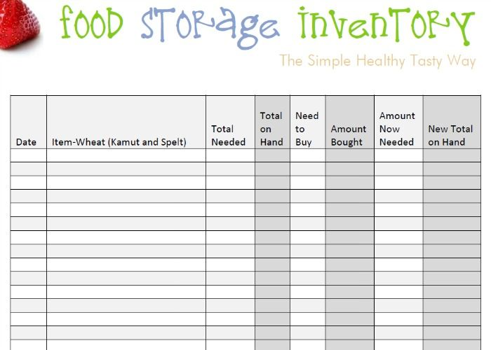 Food Storage Inventory Spreadsheets You Can Download For Free - food inventory template