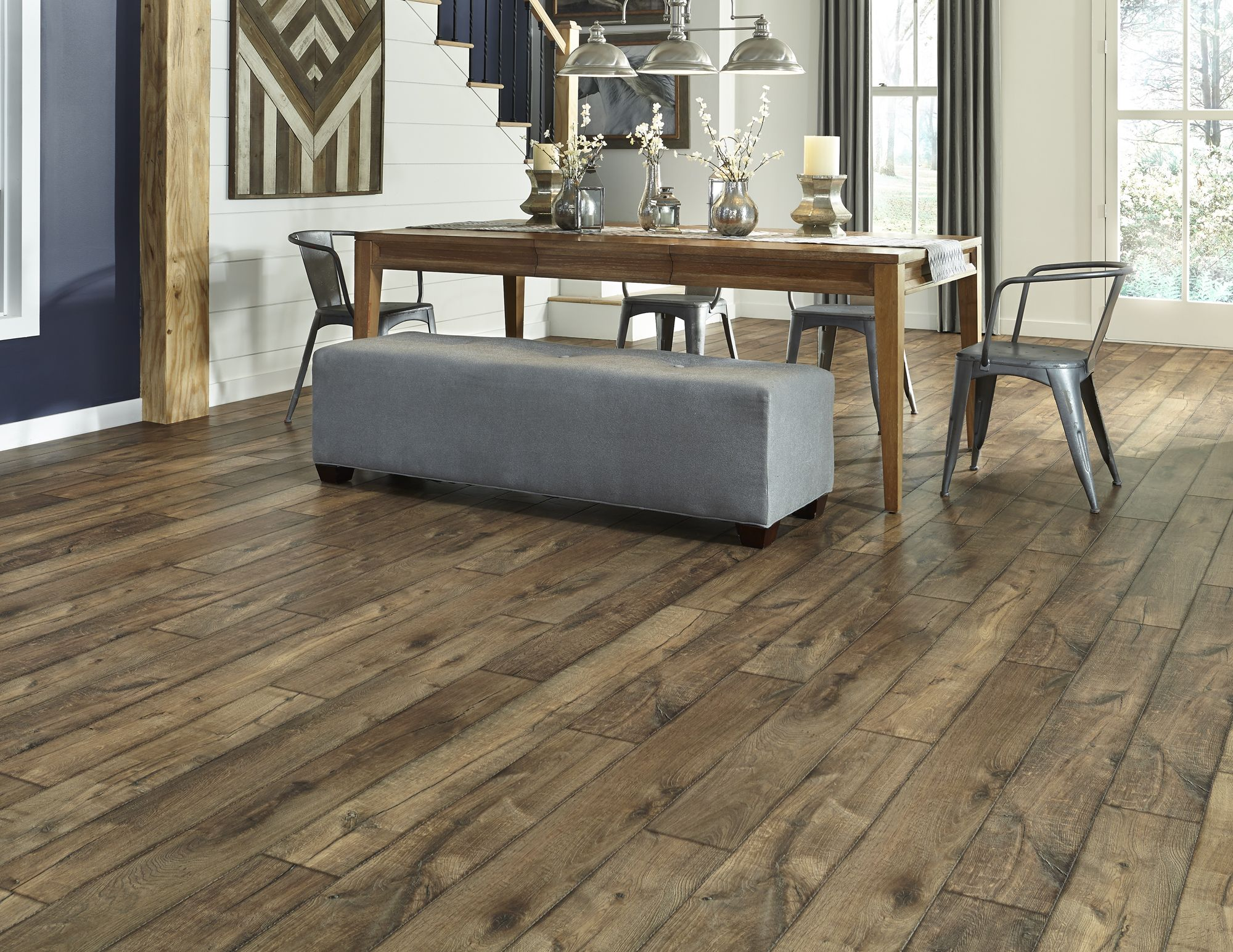 Farmhouse Kitchen Tile Floors Antique Farmhouse Hickory A Dream Home Laminate With A