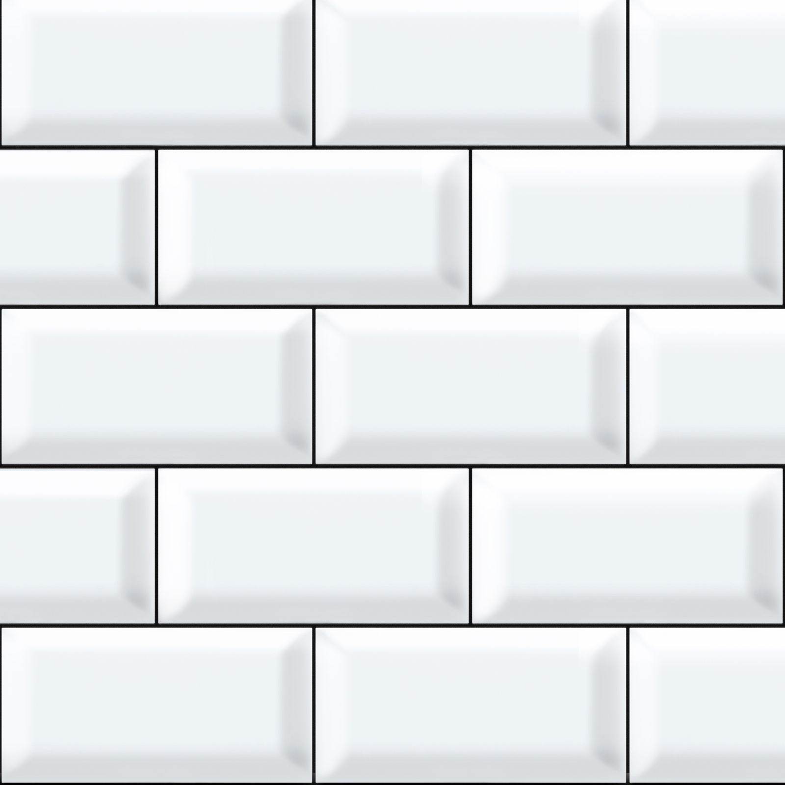Weiße Fliesen White Tiles With Black Grout Printed Home Sweet Home