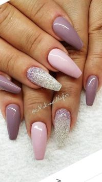 Coffin shaped nails http://fashionnails.org/various-types ...