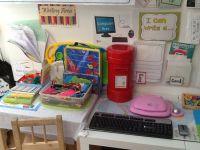 Our little writing corner. | writing center | Pinterest ...