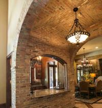 Groin vault ceiling from CS Ceilings; all finished in faux ...