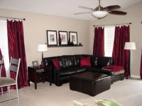 Chocolate brown and red living room | For the Home ...
