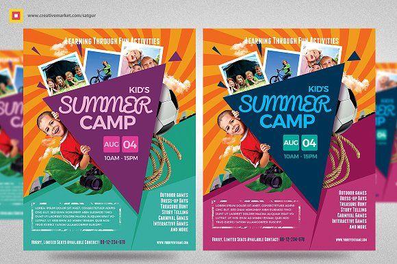 Kids Summer Camp Flyer V3 by Satgur Design Studio on - camp flyer template